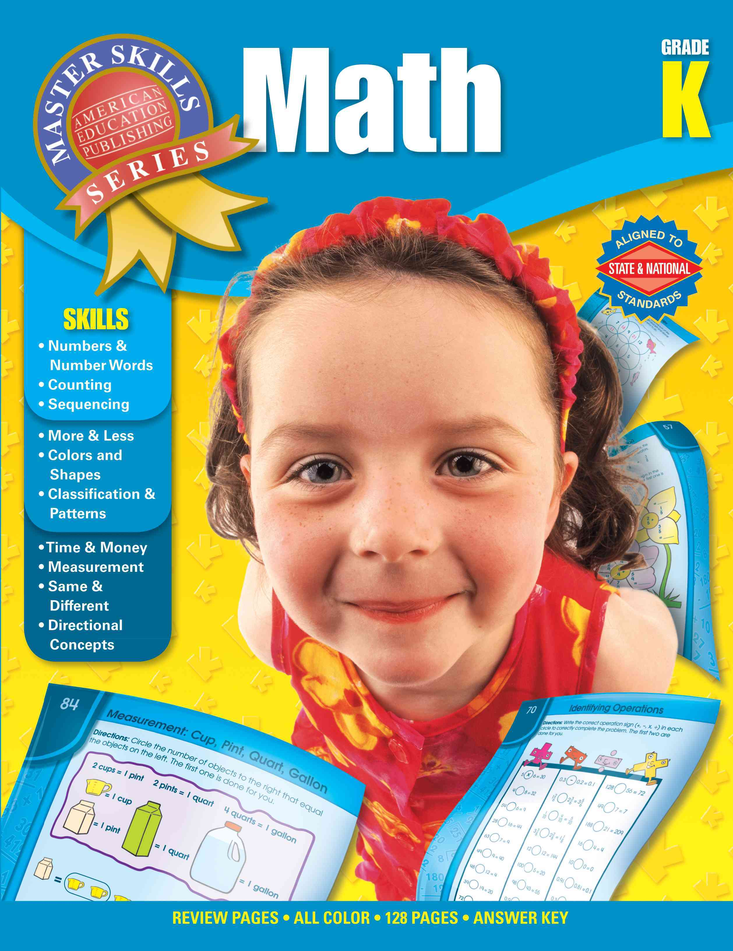 Math Grade K By Carson-dellosa Publishing (COM)/ American Education Publishing (COR)